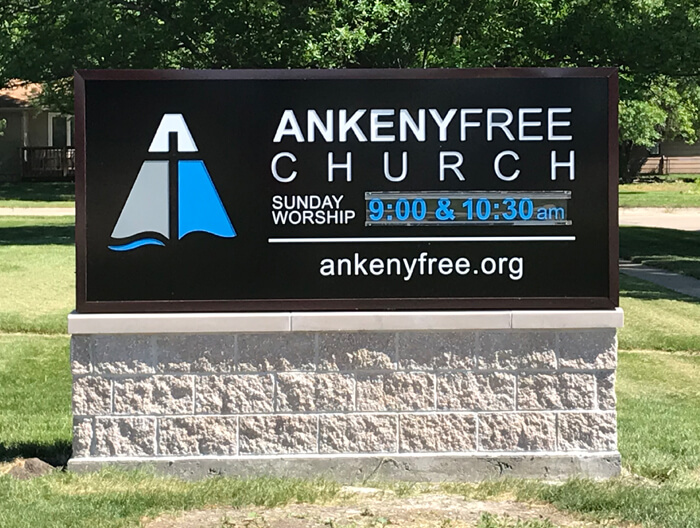 Ankeny Free Church Monument