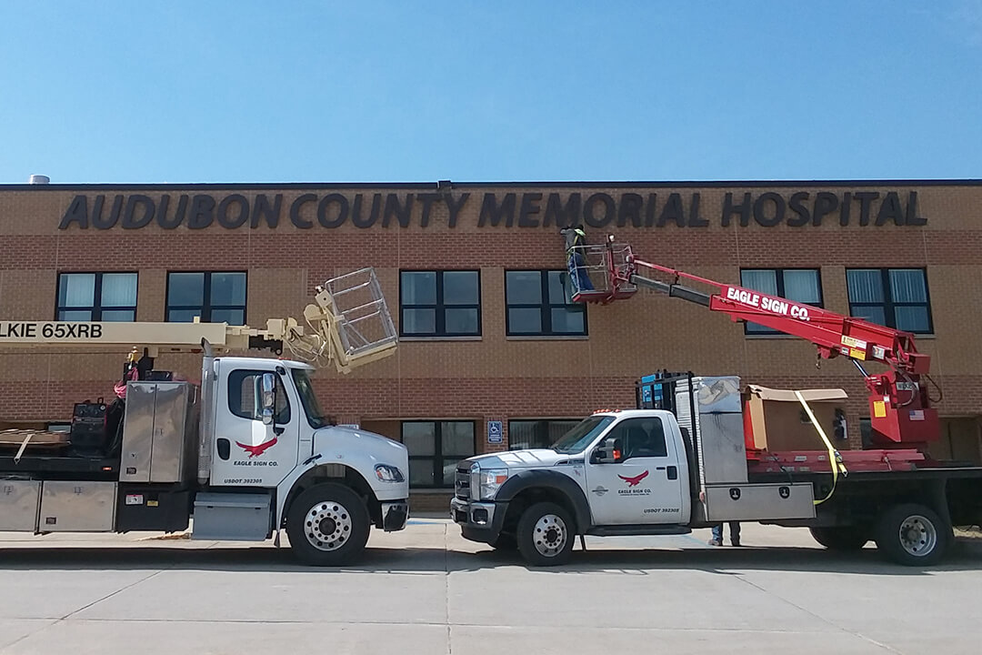 Install Audubon Hospital Channel Letters