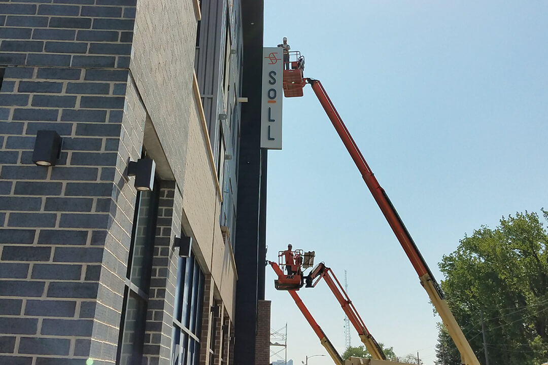 Install Soll Projection Sign
