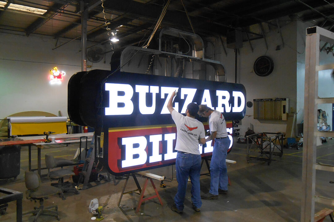 Manufacture Buzzard Billy's Pole Sign Vinyl