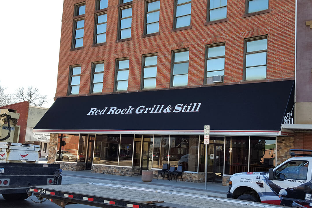 Awning Red Rock Grill