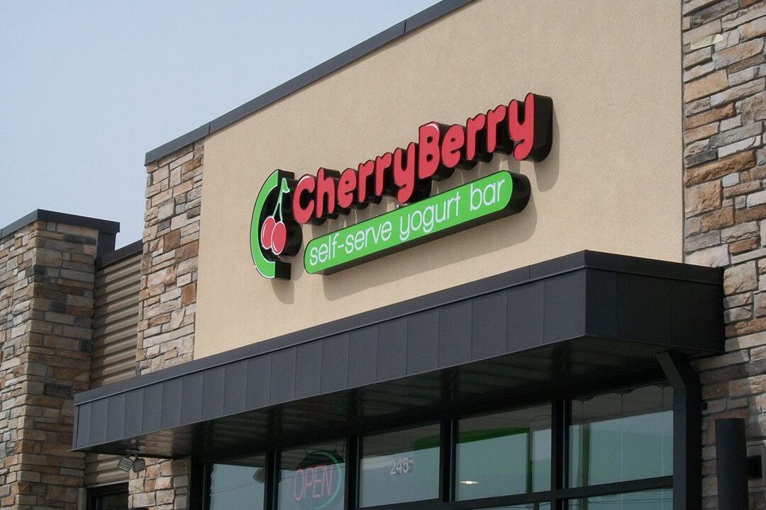 Channel Letters Cherry Berry