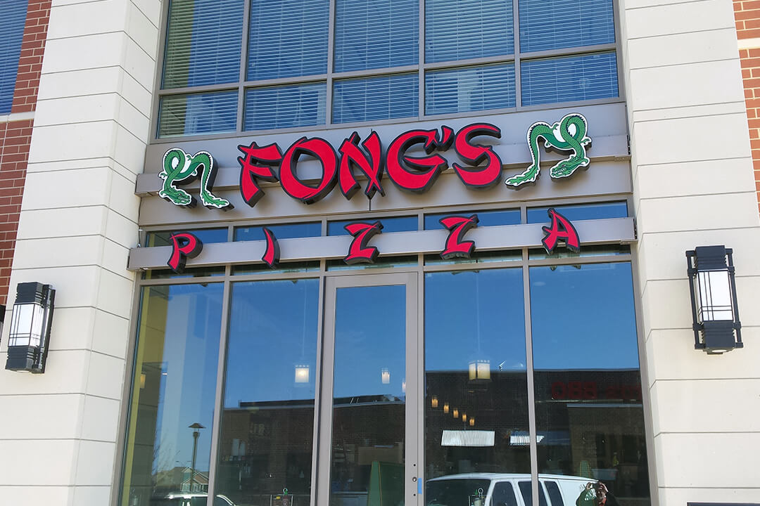 Channel Letters Fongs Pizza