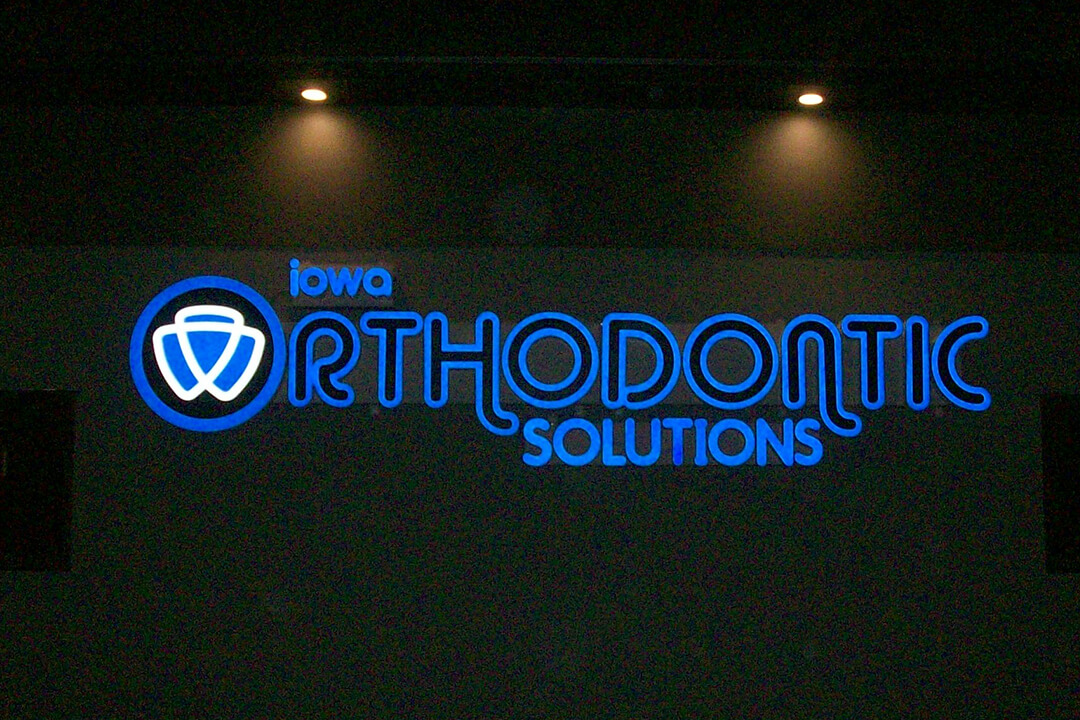 Channel Letters Iowa Orthodontic Solutions Lighted