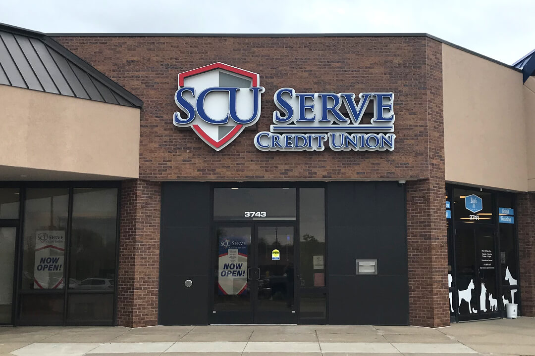 Channel Letters SCU Serve Credit Union