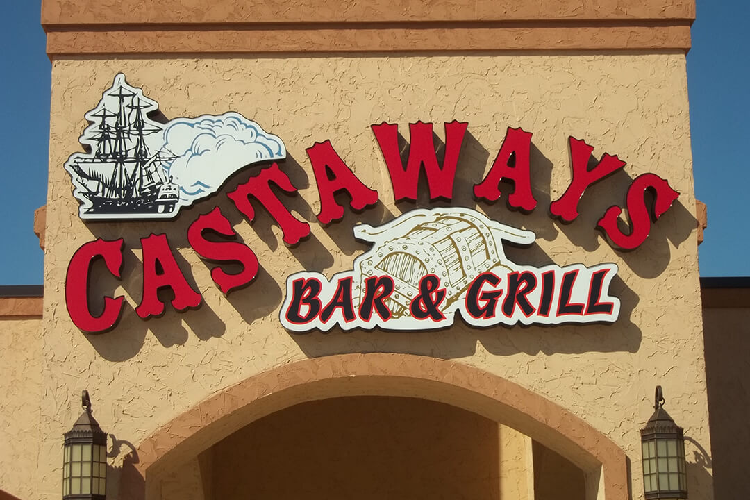 Custom Exterior Castaways Bar & Grill