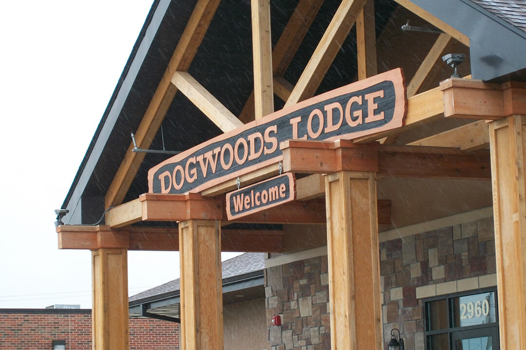Custom Exterior Dogwoods Lodge