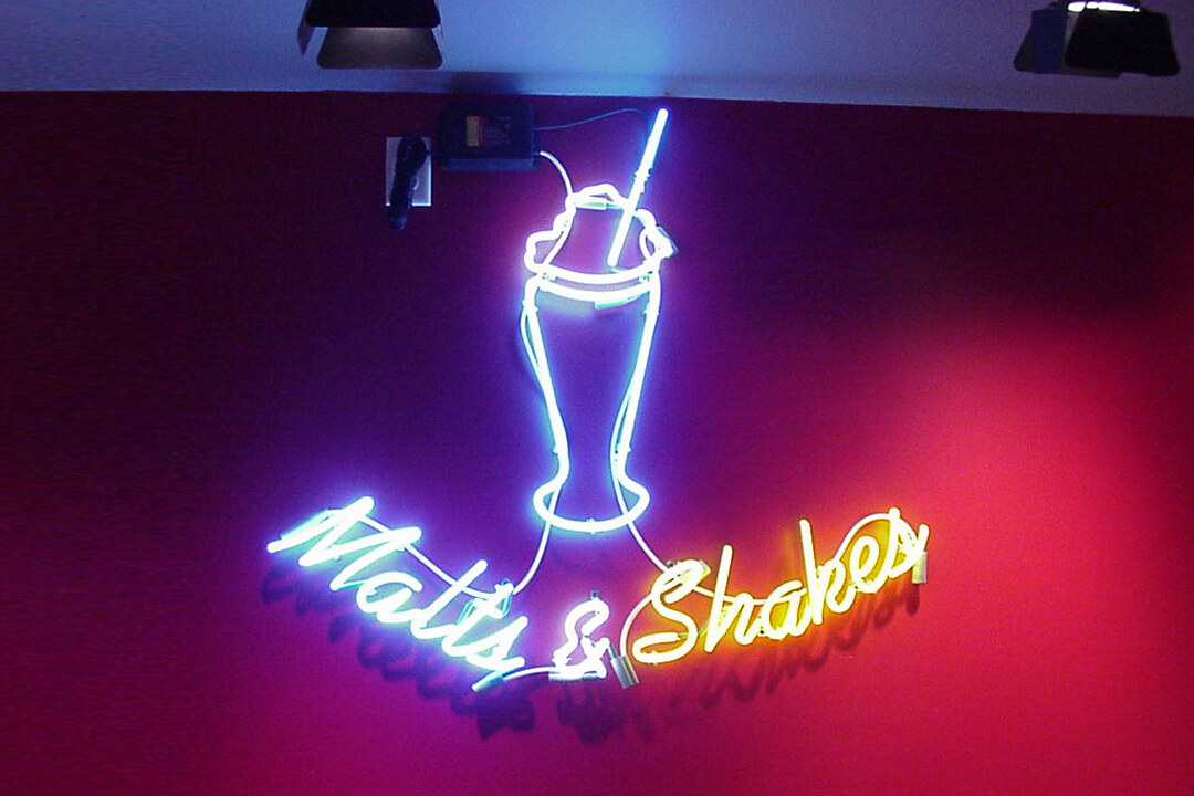 Interior Neon Maid Rite Malts & Shakes