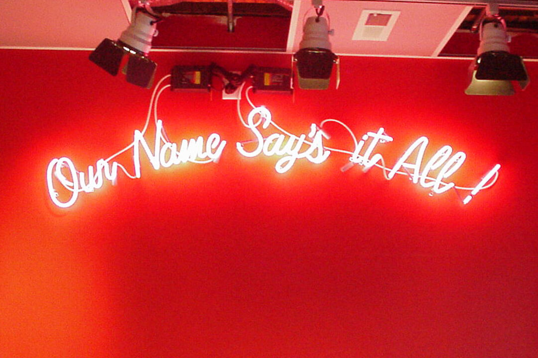 Interior Neon Maid Rite Our Name
