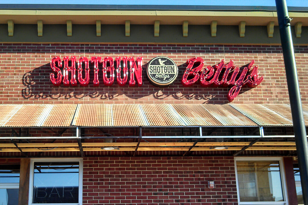 Exterior Neon Shotgun Betty's