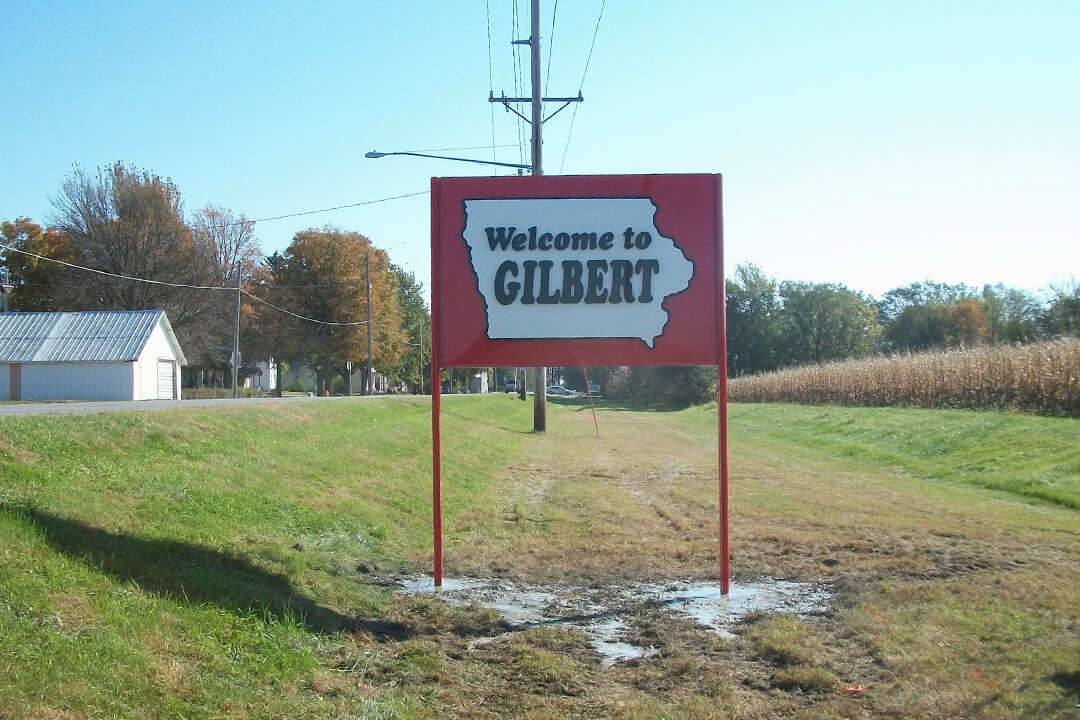 Post Sign Gilbert