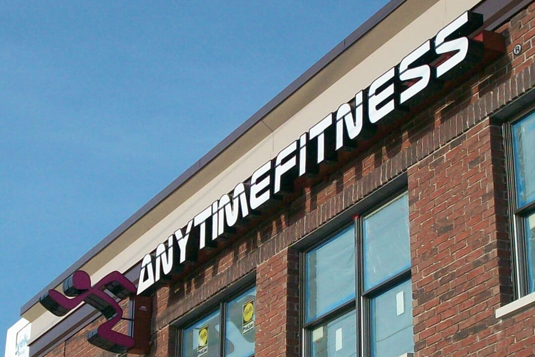 Projection Signs Anytime Fitness