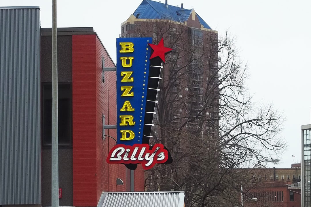 Projection Signs Buzzard Billy's