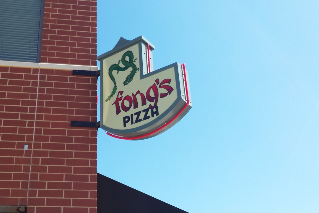 Projection Signs Fongs Pizza