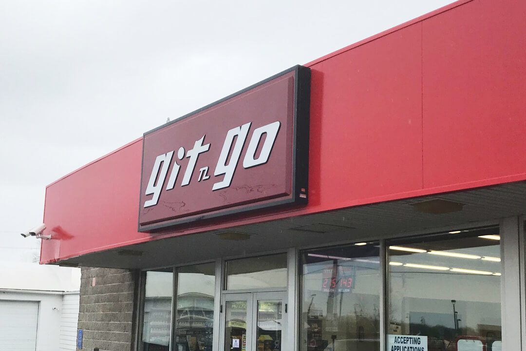 Convenience Stores Git N Go Wall Sign