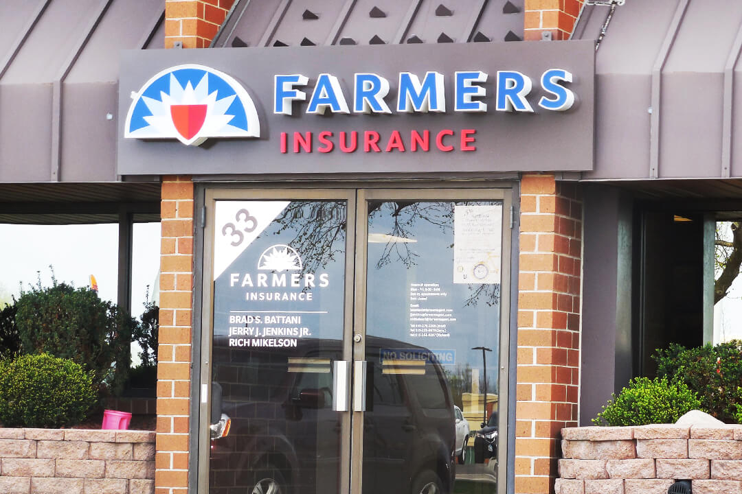 Corporate Farmers Insurance Channel Letters