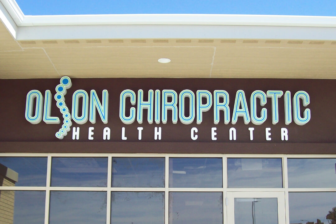 Healthcare Olson Chiropractic Channel Letters