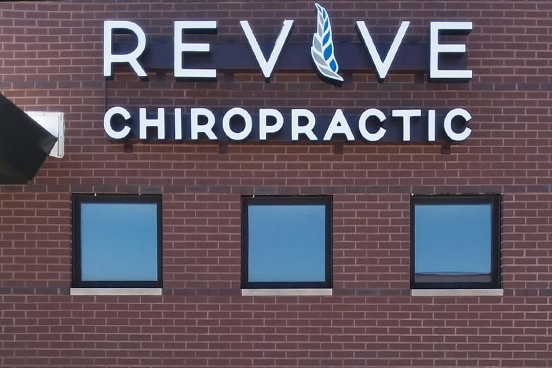 Healthcare Revive Chiropractic Channel Letters