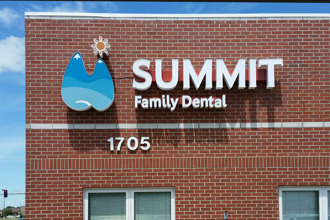 Healthcare Summit Family Dental Channel Letters